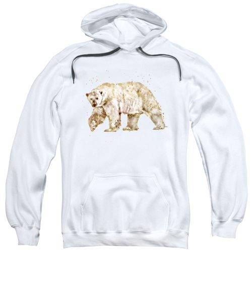Polar Bear Watercolor Sweatshirt