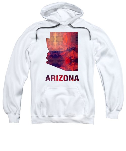 Polygon Mosaic Parchment Map Arizona Sweatshirt