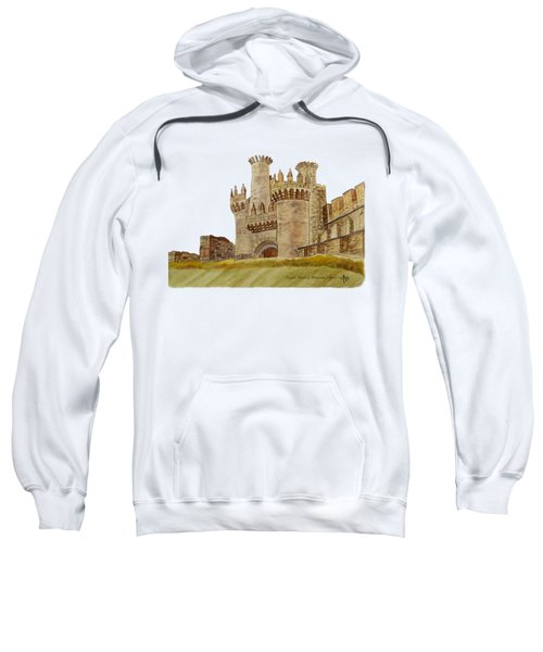 Ponferrada Templar Castle  Sweatshirt by Angeles M Pomata