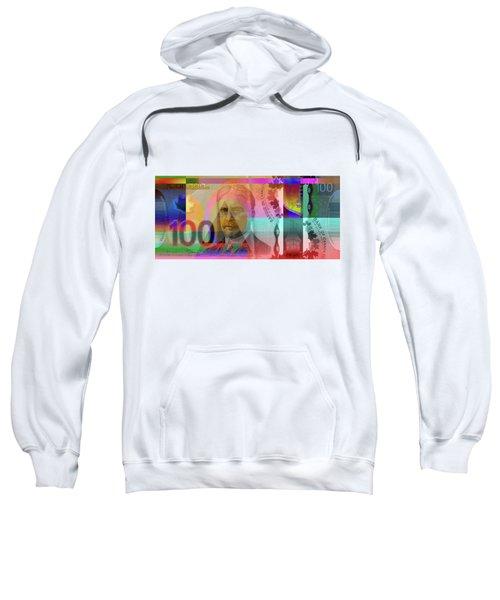 Pop-art Colorized New One Hundred Canadian Dollar Bill Sweatshirt