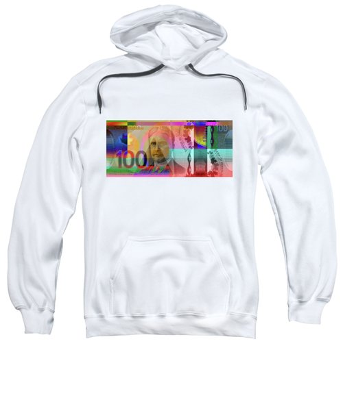 Pop-art Colorized New One Hundred Canadian Dollar Bill Sweatshirt