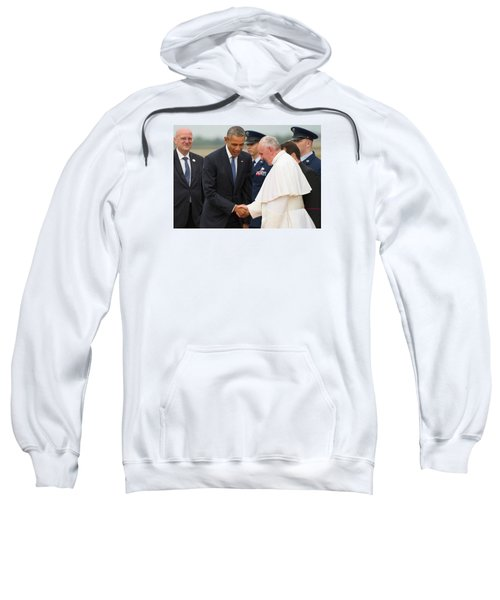 Pope Francis And President Obama Sweatshirt by Mountain Dreams