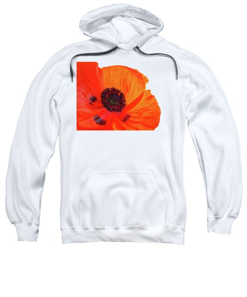 Poppy With Raindrops 3 Sweatshirt