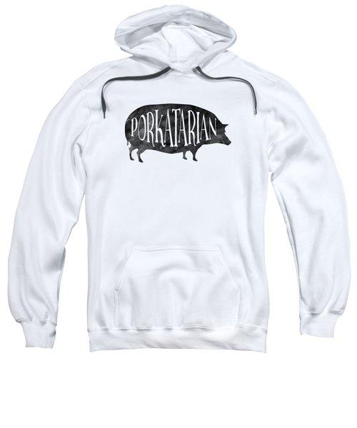 Porkatarian Pig Sweatshirt by Antique Images