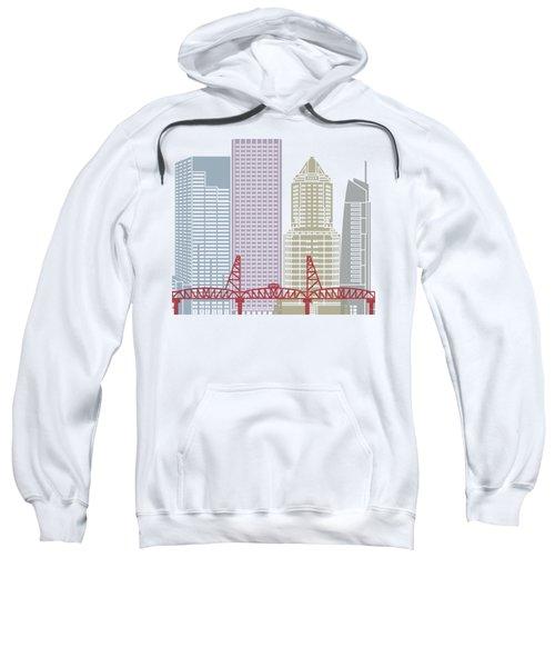 Portland Skyline Poster Sweatshirt