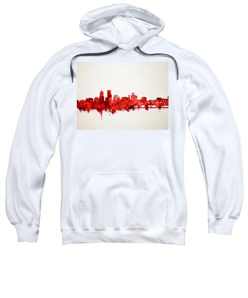 Portland Skyline Watercolor 3 Sweatshirt