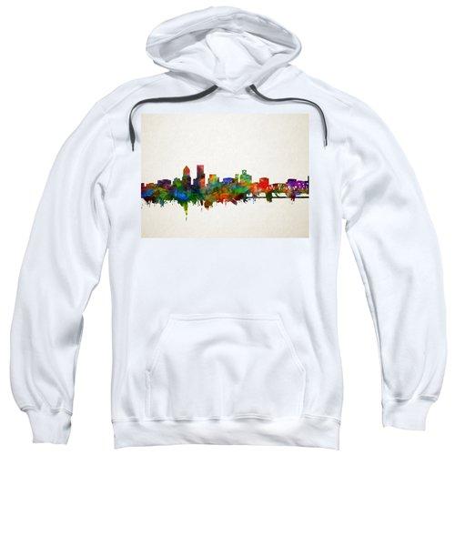 Portland Skyline Watercolor 5 Sweatshirt