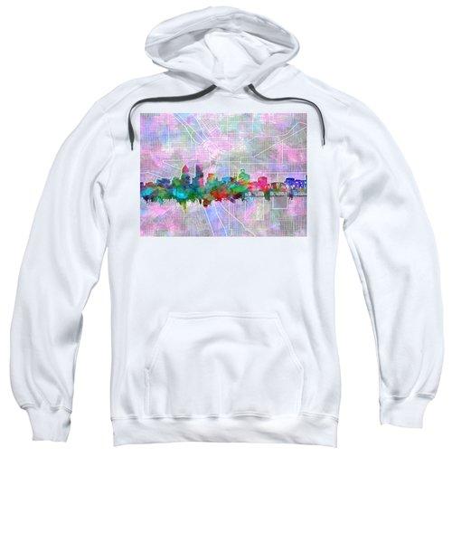 Portland Skyline Watercolor 6 Sweatshirt