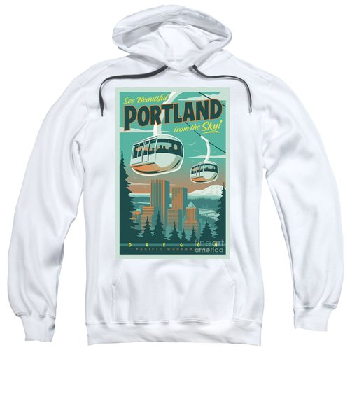 Portland Poster - Tram Retro Travel Sweatshirt