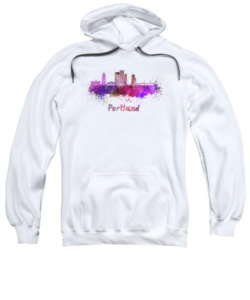 Portland V2 Skyline In Watercolor Sweatshirt