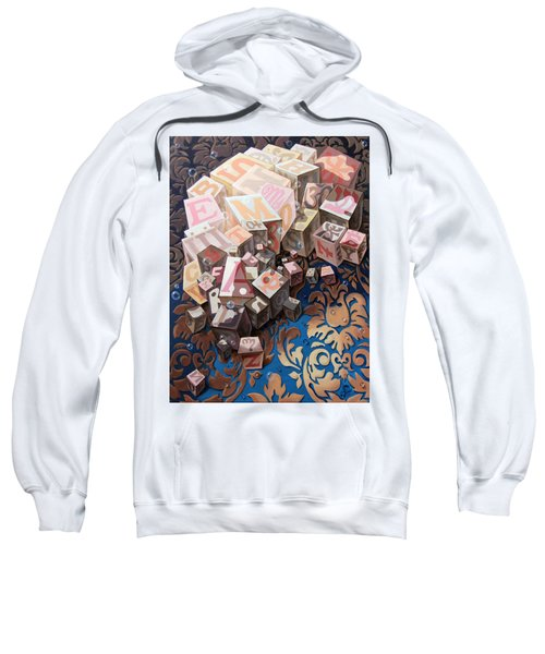 Portrait Of Einstein. Cubes  Sweatshirt