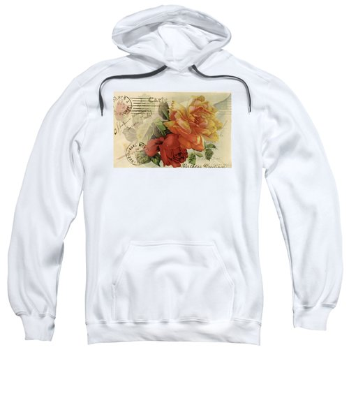Sweatshirt featuring the digital art Postal by Kim Kent