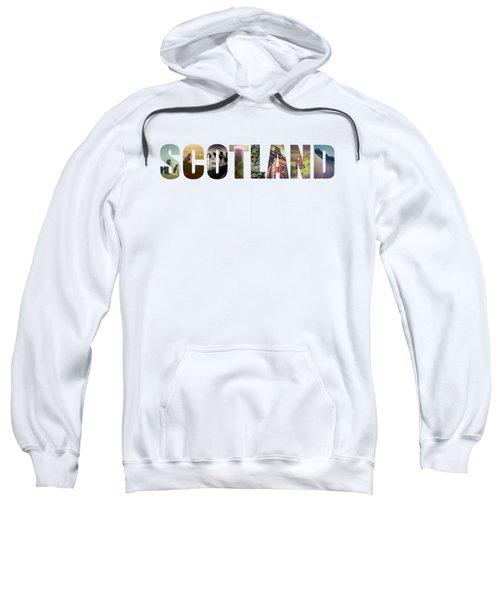 Postcard For Scotland Sweatshirt by Mr Doomits