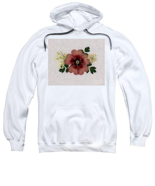 Potentilla And Queen-ann's-lace Pressed Flower Arrangement Sweatshirt