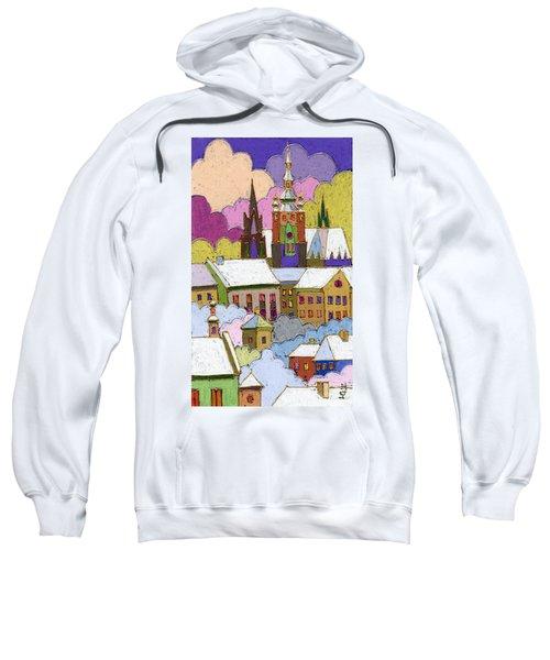 Prague Old Roofs Prague Castle Winter Sweatshirt