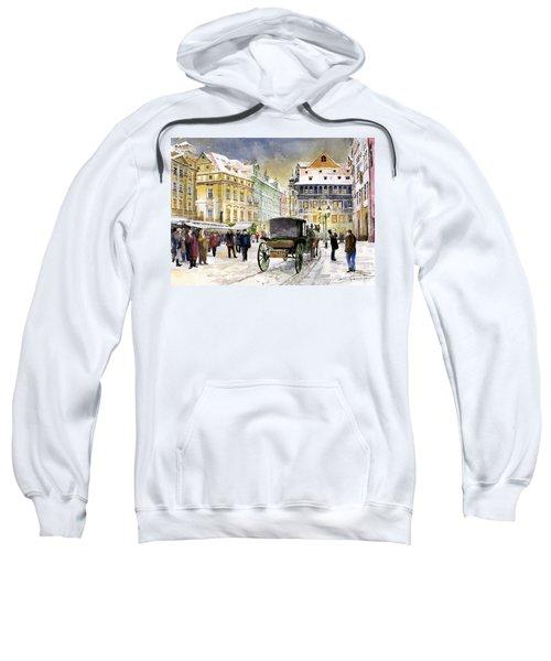 Prague Old Town Square Winter Sweatshirt
