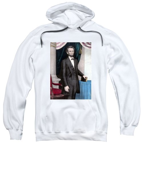 President Abraham Lincoln In Color Sweatshirt