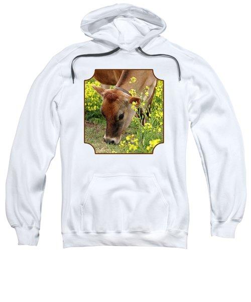 Pretty Jersey Cow - Vertical Sweatshirt by Gill Billington