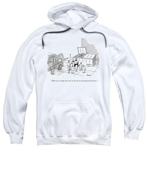 Priest Speaks To Gathered Mourners At A Funeral Sweatshirt