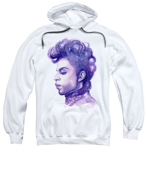 Prince Musician Watercolor Portrait Sweatshirt