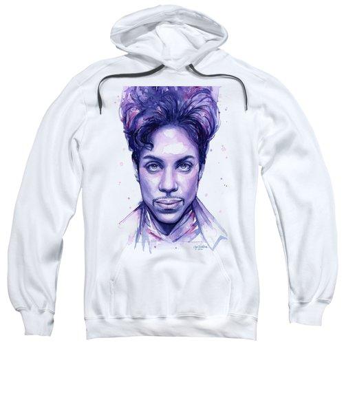Prince Purple Watercolor Sweatshirt by Olga Shvartsur