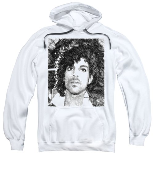 Prince - Tribute Sketch In Black And White 3 Sweatshirt