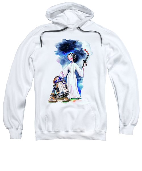 Princess Leia Illustration Sweatshirt by Isabel Salvador