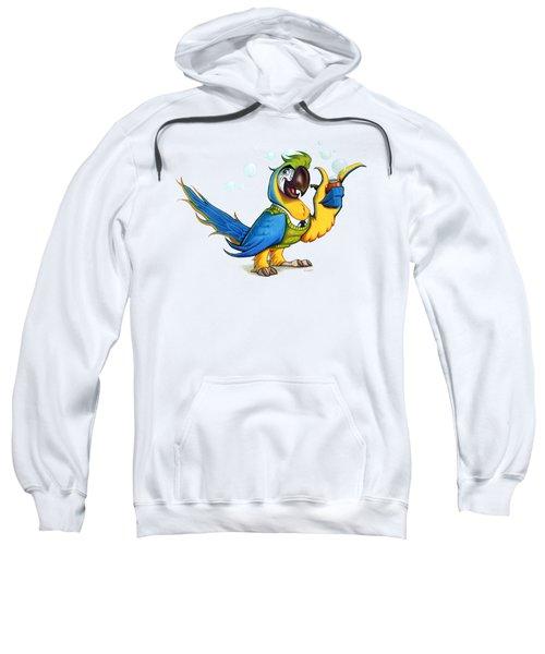 Professor Macaw Sweatshirt by Stieven Van der Poorten