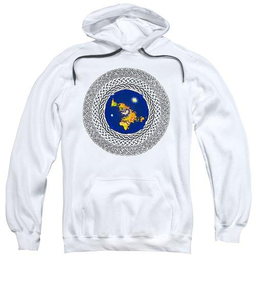 Psalm 37 Flat Earth Sweatshirt