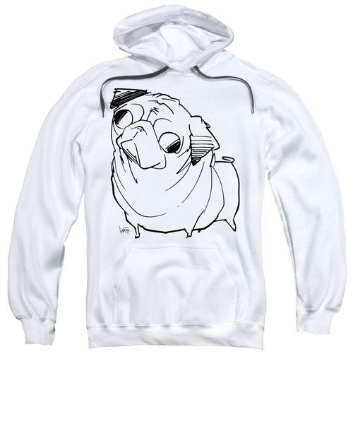 Pug Gesture Sketch Sweatshirt