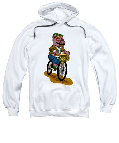 Pun Intended - Hipsterpotamus - Hipsters- Funny Design Sweatshirt