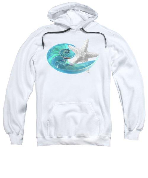 Pure Joy - Starfish With Nautilus Shell Sweatshirt