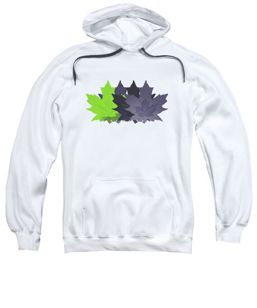 Purple And Green Leaves Sweatshirt by Methune Hively