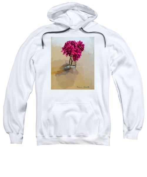 Purple Dahlias Sweatshirt by Melissa Abbott