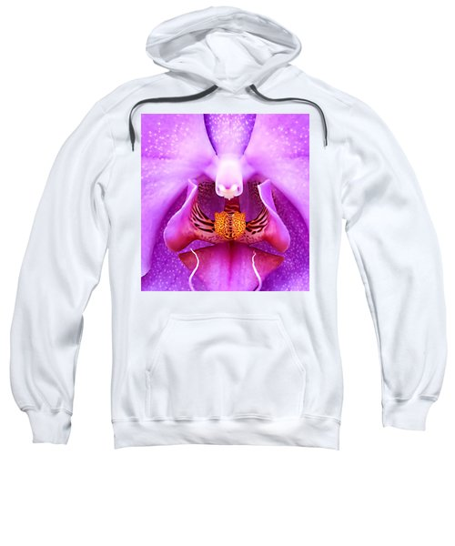 Purple Face In The Orchid. Sweatshirt