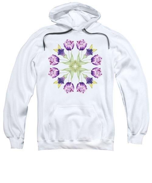 Purple Tulip Mandala Sweatshirt