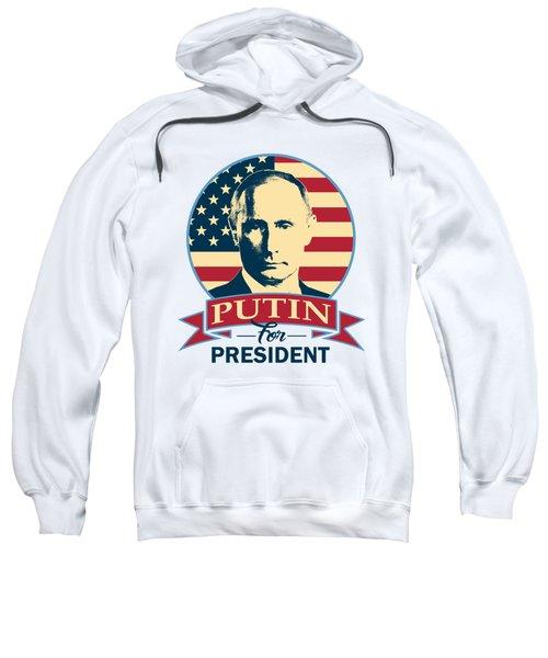Putin For President American Banner Pop Art Sweatshirt