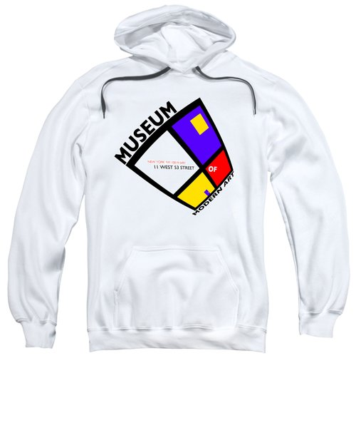 Putting On De Stijl Sweatshirt