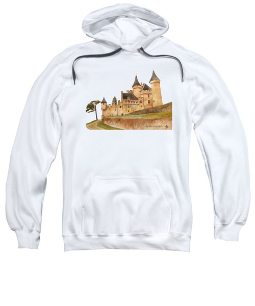 Puymartin Castle Sweatshirt by Angeles M Pomata