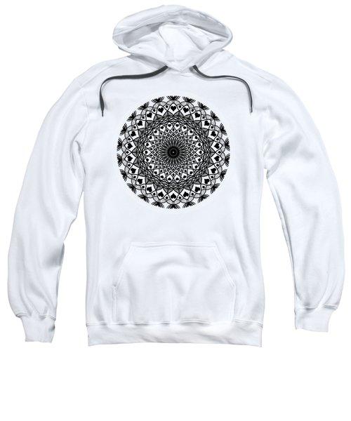 Queen Of Hearts King Of Diamonds Mandala Sweatshirt