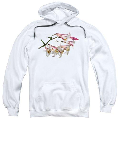 Radiant Lilies Sweatshirt by Gill Billington