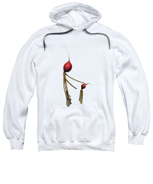 Radish Wisdom - On White Sweatshirt
