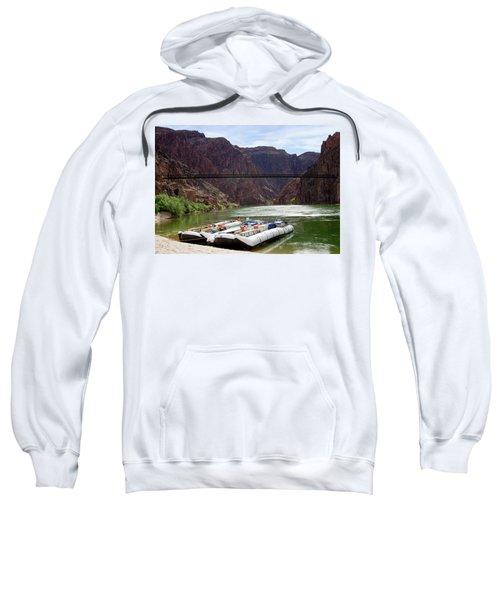 Rafts With Black Bridge In The Distance Sweatshirt