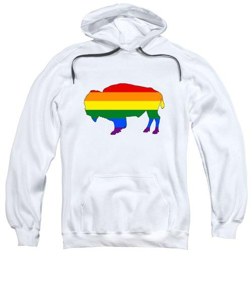 Rainbow Bison Sweatshirt by Mordax Furittus