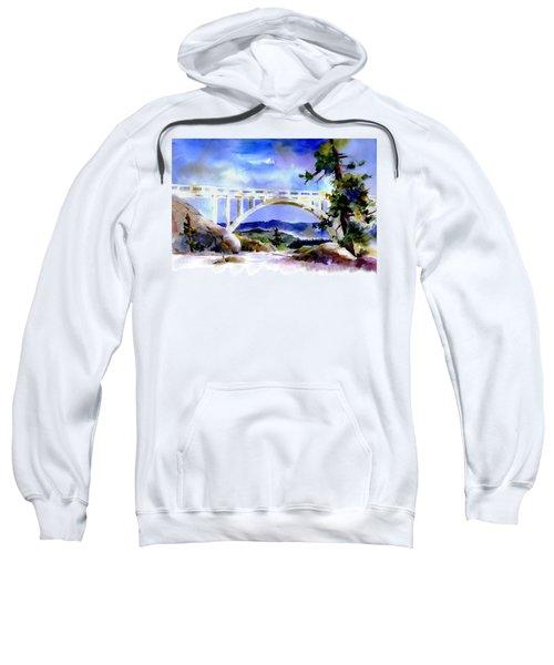 Rainbow Bridge Above Donnerlk#2 Sweatshirt