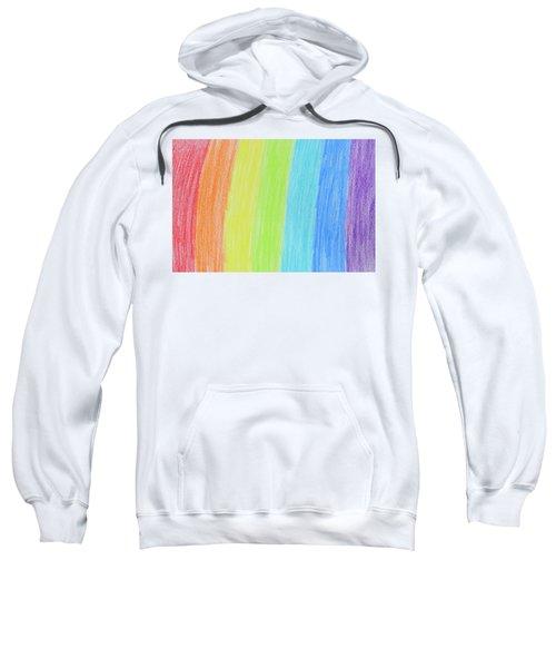 Rainbow Crayon Drawing Sweatshirt by GoodMood Art