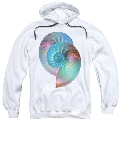 Rainbow Nautilus Pair On White Sweatshirt