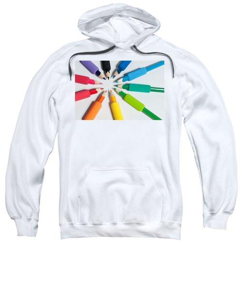 Rainbow Of Crayons Sweatshirt