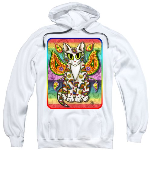 Rainbow Paisley Fairy Cat Sweatshirt
