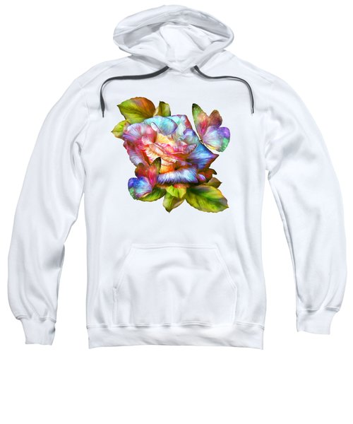 Rainbow Rose And Butterflies Sweatshirt